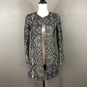 NWT H&M Printed open front blazer